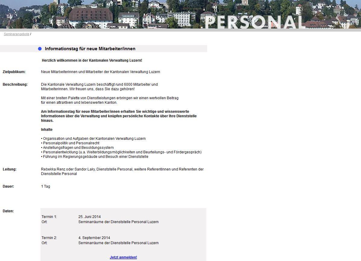 Kursverwaltung Kundenspez. Layout