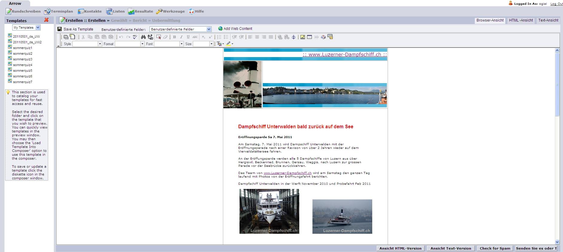 Newsletter Erstellung